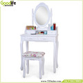 Mirror simple dressing table designs with stool hot sell from Goodlife