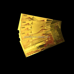 Customized professional good price of gold euro 500 banknotes