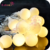 LED Outdoor Globe String Lights Battery Operated Frosted White Ball Fairy Light