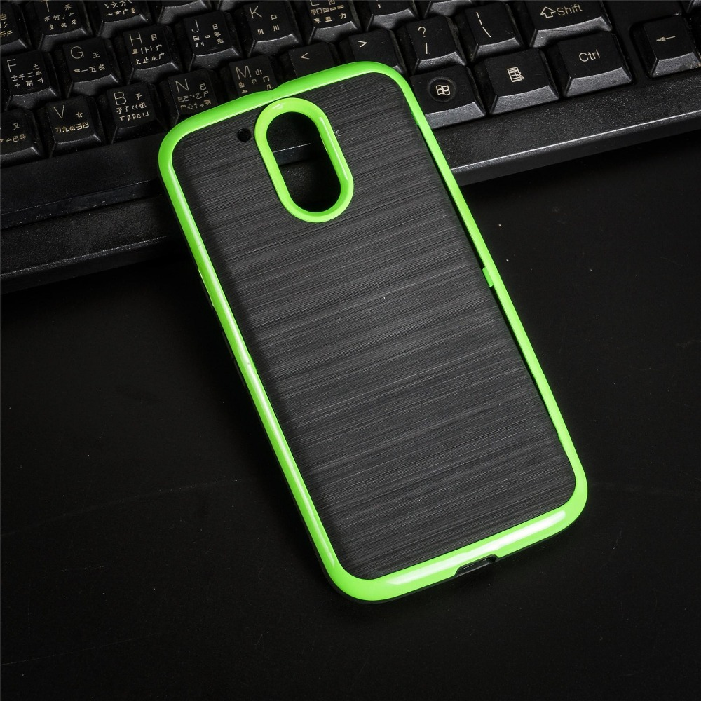 Wholesale price from China luxury Wire Drawing Shockproof Combo Hybrid 2 in1 for <strong>Motorola</strong> G4 plus case