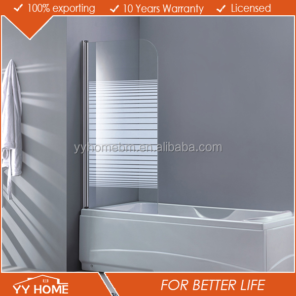 shower with bathtub sliding fashion shower screen and stainless steel hingle shower screen