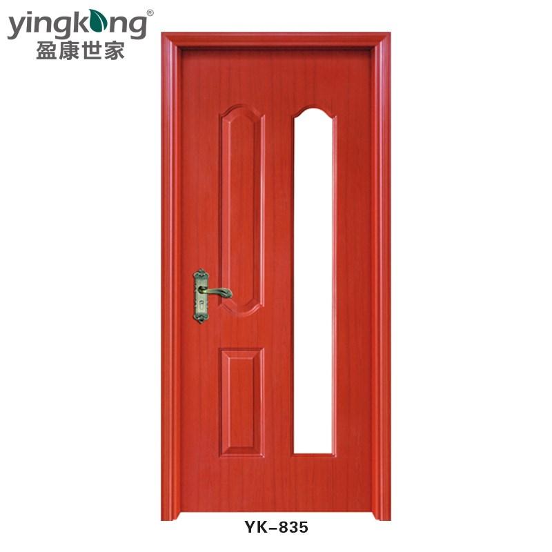 Yk835 high quality wholesale interior wooden single door for Quality door design