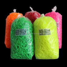 High Elasticity Clear Rubber Bands Bags Thin Hair Elastic Rubber Bands for Kids