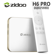 zidoo H6 PRO Android 7.0 TV Box 4K 10Bit HDR Allwinner H6 DDR4 2GB eMMC 16GB ac WIFI 1000M LAN DTS-HD Smartcolo Media Player