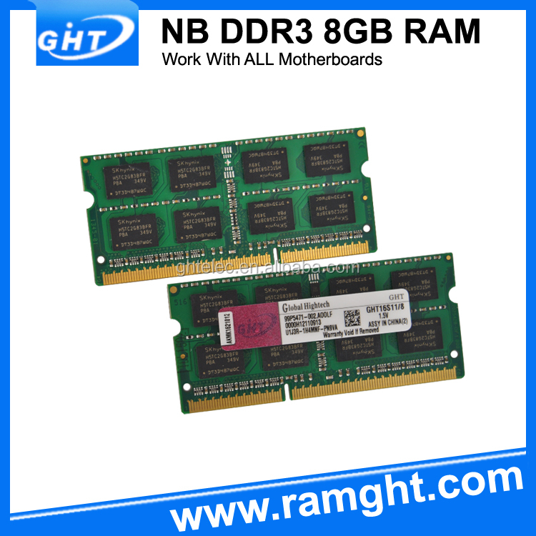 Escrow payment unbuffered ram ddr3 8gb laptop