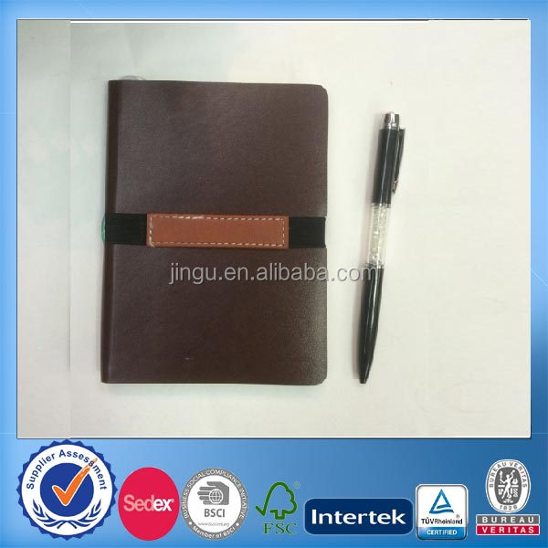 brown pu notebook