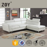 Ikea Bonded Leather Living Room Furniture Sofa, l shape sofa cover ZOY-98360