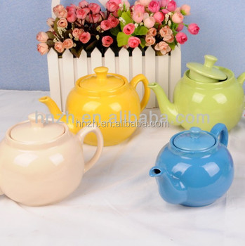 Colorful bulk personal ceramic tea pot wholesale from China