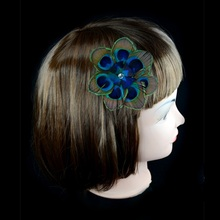Horng Shya Hot Selling Factory Direct Sales Beautiful Professional BF-260/1 Natural Peacock Style Hair Clips