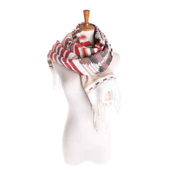 Custom Print Fashionable Polyester Lady Plain Long Scarf