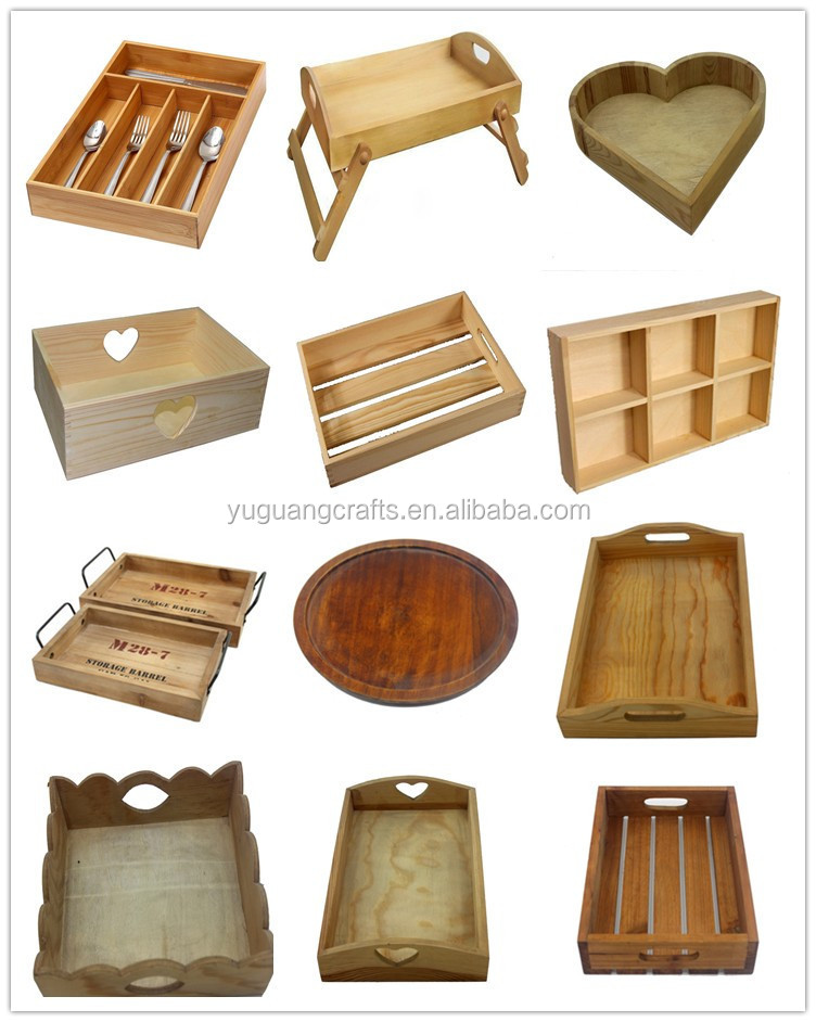 Yuguang crafts custom carbonized wholesale wooden trays for Wholesale wood craft cutouts