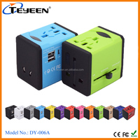 2016 World Travel adaptor with 2500mA USB charger