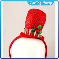 Red Sequin Mini Hat Christmas Headband