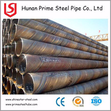 ASTM A214 SA214 Epoxy Coating Steel Piling Tubes, SSAW Welded Perforated Drainage Pipes