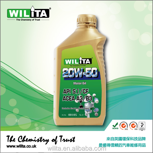 WILITA Automobile Synthetic Motor Oil Engine Lubricant Oil 20W50