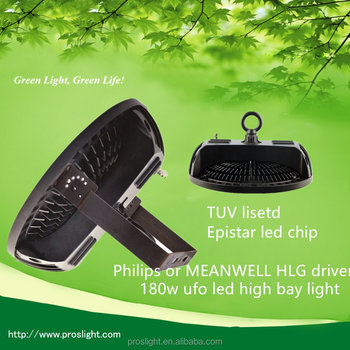TUV/DLC 90-305V 180w ufo led high bay light