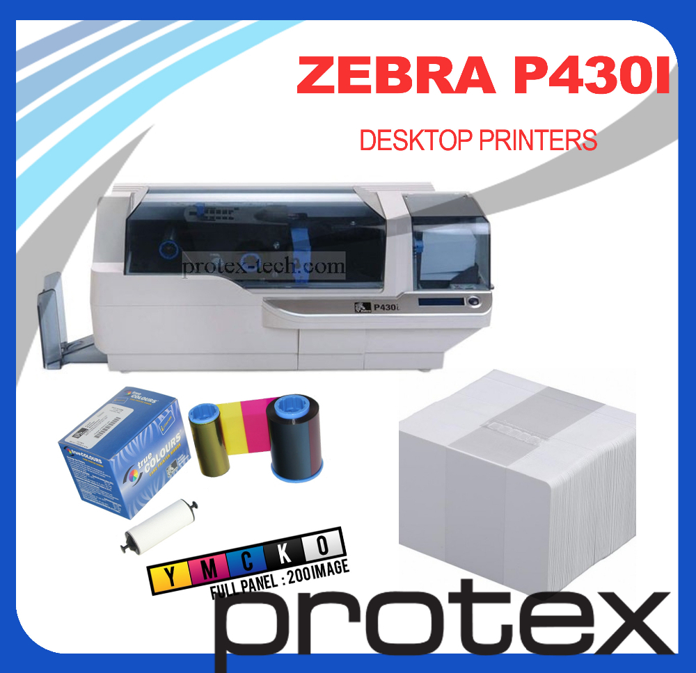 Competitive price for Zebra P430i dual sided plastic smart digital ID card printer