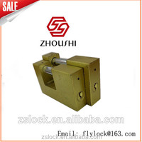 Golden flash Rectangular Padlock Keyed Alike Lock with Shackle Guard