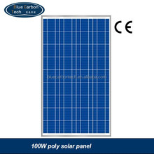 high quality photovoltaic polycrystalline silicon 100W solar panel