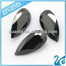 European machine cut pear shape 6*9mm synthetic black diamond