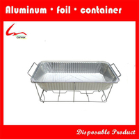 Wire chafing rack for barbecue
