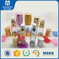 New Arrived Airless Bottle Cosmetics/Clear Glass Bottles With Screw Cap
