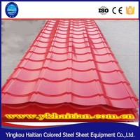 Waterproof colored coating steel zinc roof tile, 828 width red metal roof tiles, factory low price corrugated roof tile