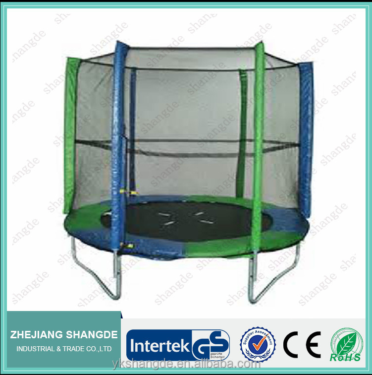 6ft high jump mini trampoline with bouncing pad and circular enclosure