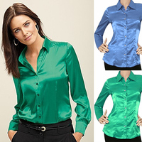 Stylish Lady Women Lapel Long Sleeve Button Down Shirt Casual Office Formal BlouseTops women formal blouse designs SV015352