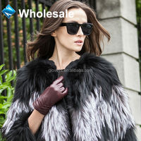 hot selling fashion sheep skin shell women wholesale leather gloves