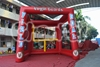 new inflatable football goal, soccer gate inflatable inflatable football toss throwing game