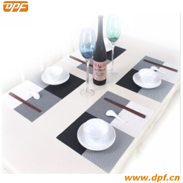 Ecofriendly Easy Clean PP Woven Plastic Dinner Table Mat DPF0482