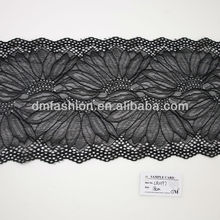 Fashion Design black crochet elastic lace trim yard LR0197