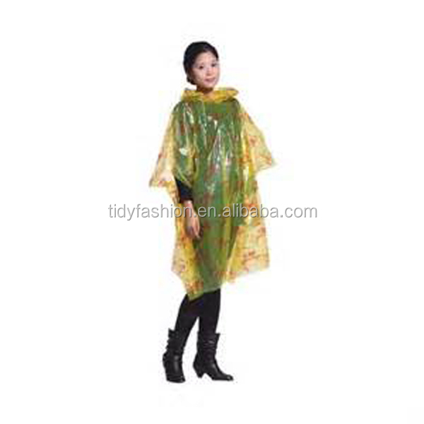Yellow Girls Plastic Disposable Robertsons Rainwear With Logo