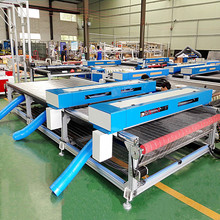 weier water cooling 100w laser tube cnc cutting machine fabric with auto feeding