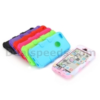 Cute Heart and Tree Pattern Detachable Hybrid Silicone+PC Hard Cases for iPhone 5C