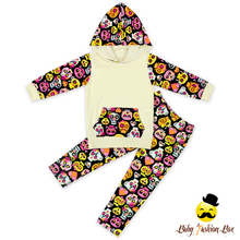 66TQZ381-3 Yihong Cotton Hoodie Floral Print Sport Set Wholesale Children's Boutique Clothing Kids Western Clothing