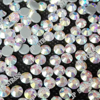 2015 ss20 5mm crystal AB flatback rhinestone in bulk,iron on swimming suit,jeans,rhinestone case