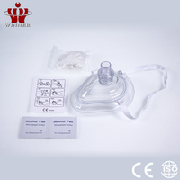 Teaching CPR mask breathing keychain bag