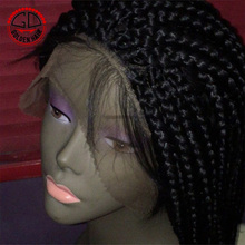 High Quality Synthetic Lace Front Micro Braided Wigs For Black Women