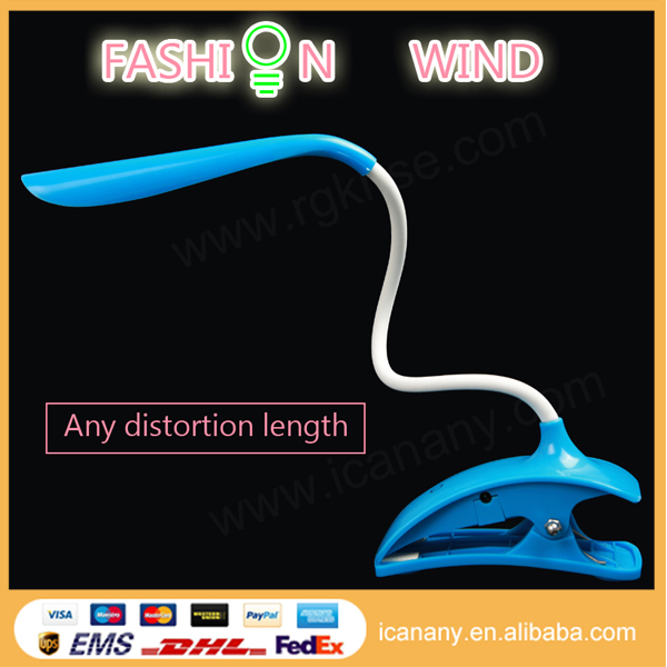 OEM Eye Protection Clip-On LED Desk Lamp Flexible Neck Book light, with USB Port for Home Reading Studying Relaxation