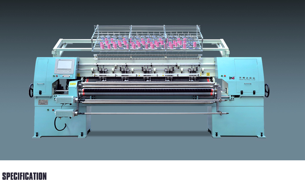 YBD64-2 Needle Computerized fly shuttle flat knitting quilting machine