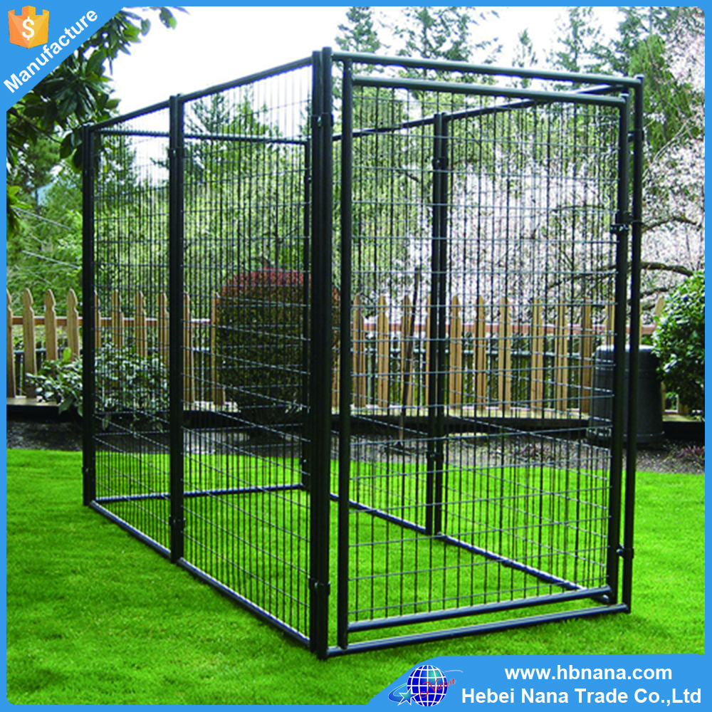 Welded wire dog fence / outdoor large portable dog cage