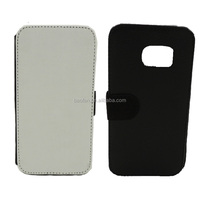 New arrive Sublimation insert card leather flip cover for samsung galaxy S7