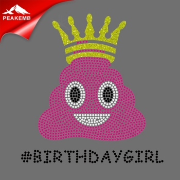 Birthday Girl hotfix rhinestone transfer design for T-shirt