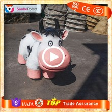 Sanhe Robot New Lovely Electric Dairy Cow custom kids toy ride on cars