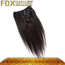 Absolute Plantium Blonde Color Full Head Clip in Straight Hair Snow White Color Virgin Human Hair Extension