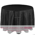 hot sale pintuck black round table cloth