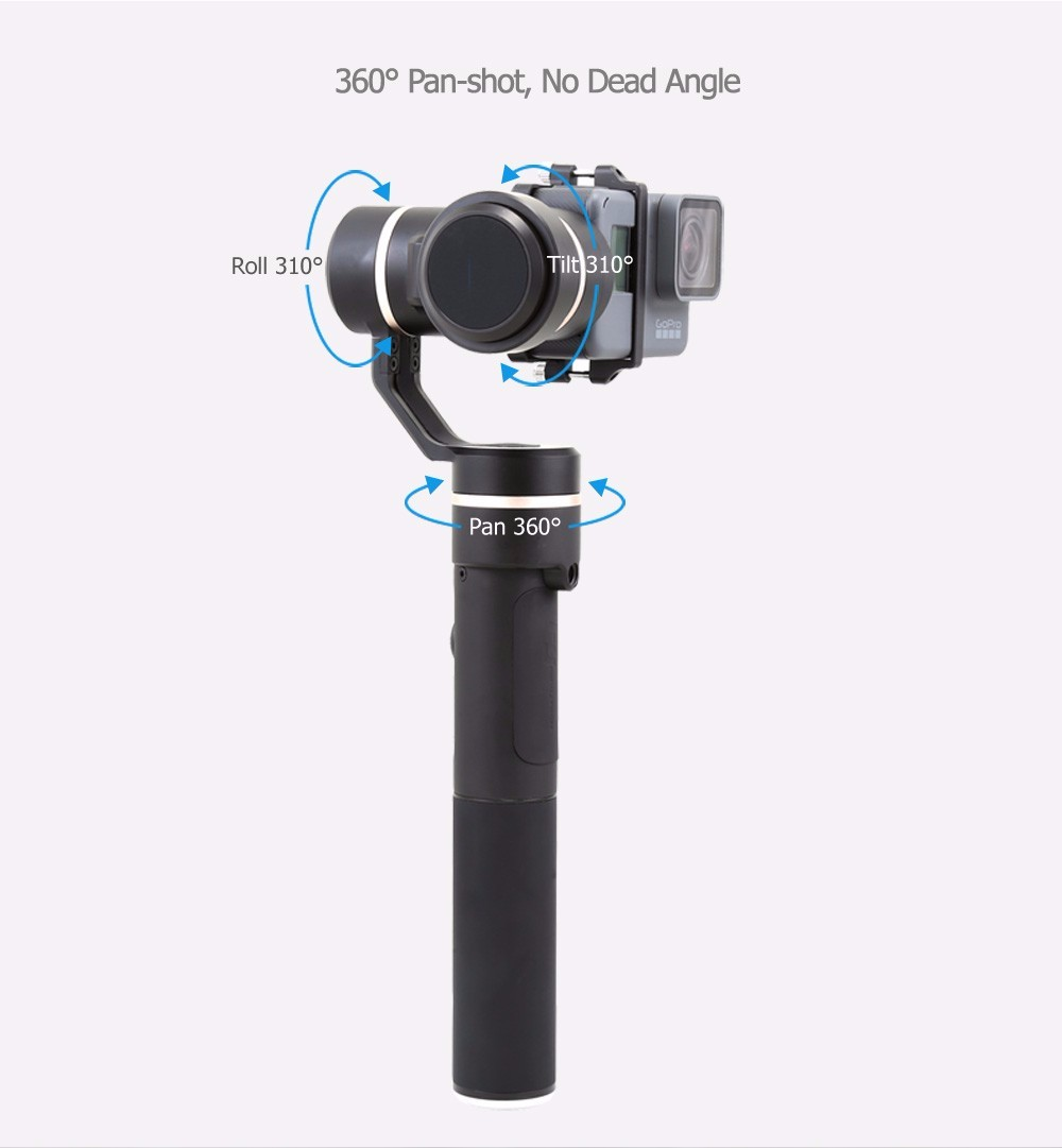 World's first Splash-proof Gimbal FY G5 3-axis handheld gimbal
