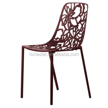 casting aluminum leisure stacking dining metal forest chair